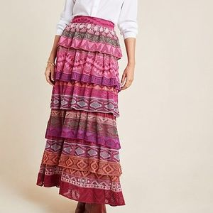 Cecilia Prado Tiered Sweater Maxi Skirt NWOT
